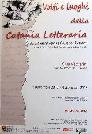 Locandina Catania letteraria