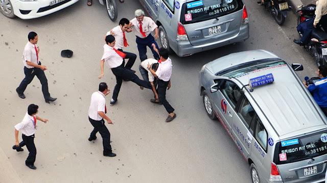 Một vụ việc giải quyết bằng bạo lực trên đường phố