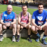 OIC - ENTSIMAGES.COM - Rt Hon. Alistair Burt,  Rt Hon. Alun Cairns and Conservative MP Edward Timpson at the  EIGHT MPS SET TO RUN THE 2016 VIRGIN MONEY LONDON MARATHON 15th April  2016 Photo Mobis Photos/OIC 0203 174 1069