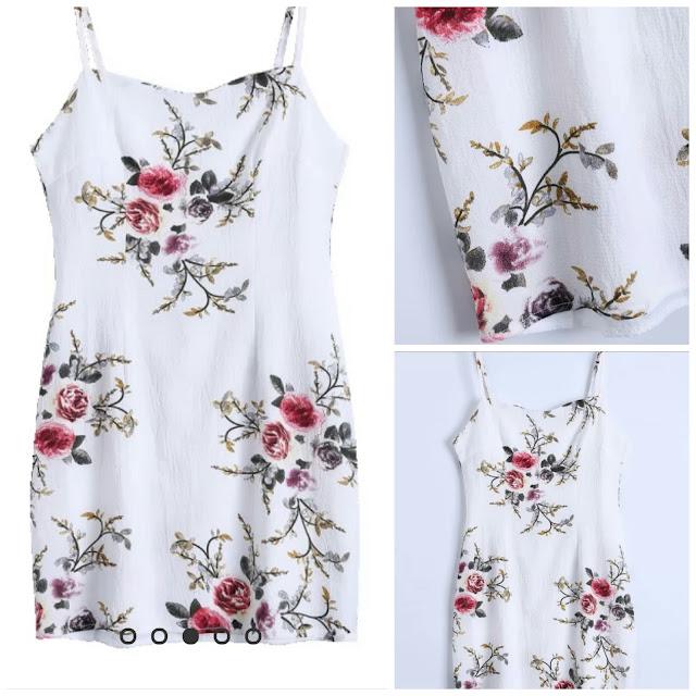 """ווייש ליסט שמלות הגוף - """"floral bodycon dress"""""""