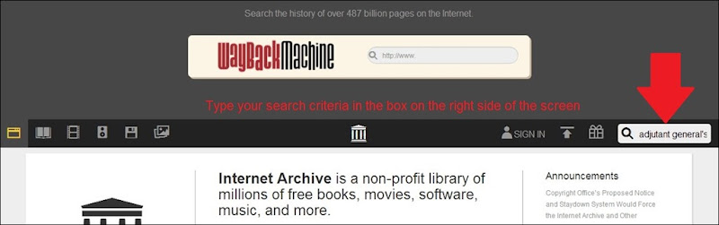 Archive dot org page 1