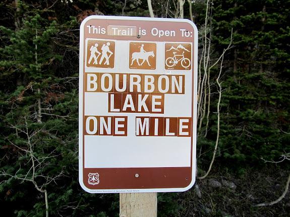 Bourbon Lake trailhead