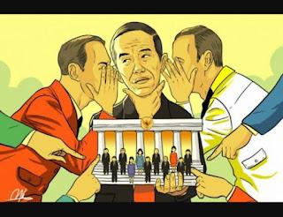 Illustrasi Jokowi saat dibisiki dengan seseorang, artinya ada Jokowi muda di intervensi dalam melakukan kebijakan pemerintah