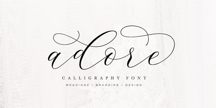 Download Adore Calligraphy Font Family From Luna Paper Co