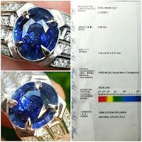 jual natural batu royal blue sapphire ceylon srilanka