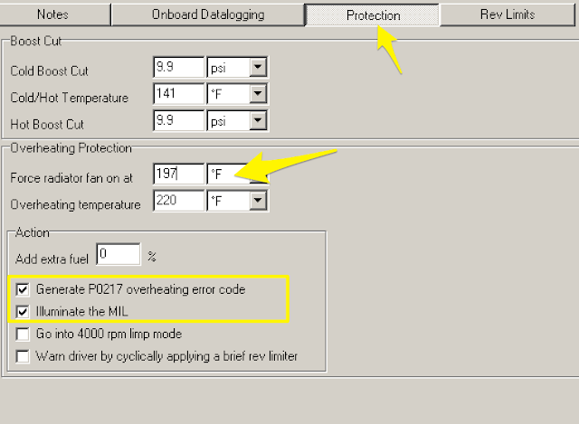 kManager Settings Cooling Protection