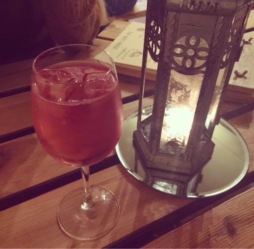 The Oast House in Manchester, Wine and Candles.