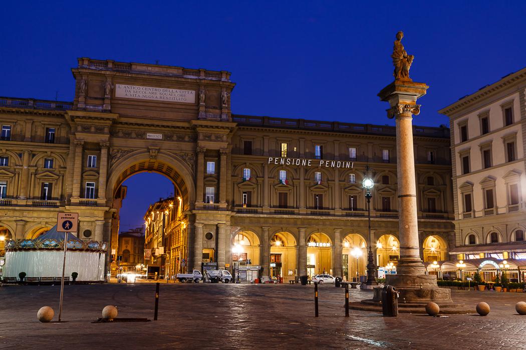 Флоренция мимо красивейшей Площади Республики.