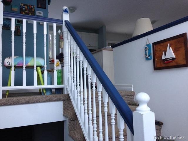 blue railing