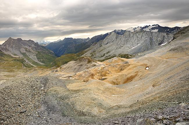 Traversée des Alpes, du lac Léman à la Méditerranée Gr5-mont-blanc-briancon-chaviere-vue