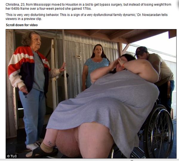 la supuesta madre del bebede 18 kg
