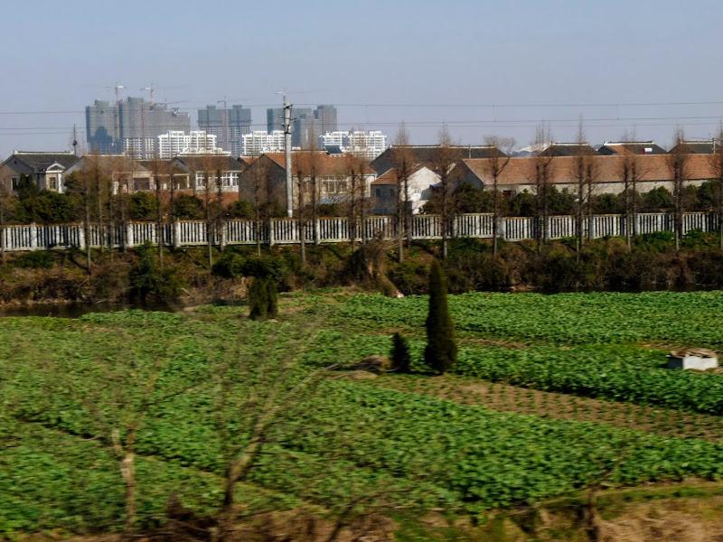 Dans le train , en route vers Suzhou