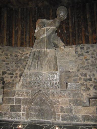 Escultura en la mina de sal de Wieliczka