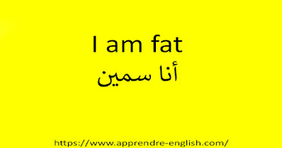 I am fat أنا سمين