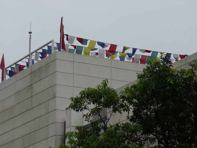 En marchant dans Yangmingshan,sur le toit d un immeuble
