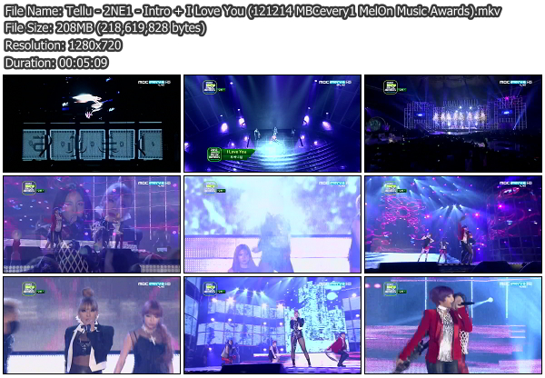 [Perf] 2NE1   Intro + I Love You @ MelOn Music Awards 121214