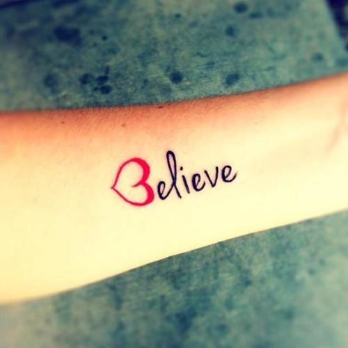 Girl Tattoos: Small Quote Tattoo Designs