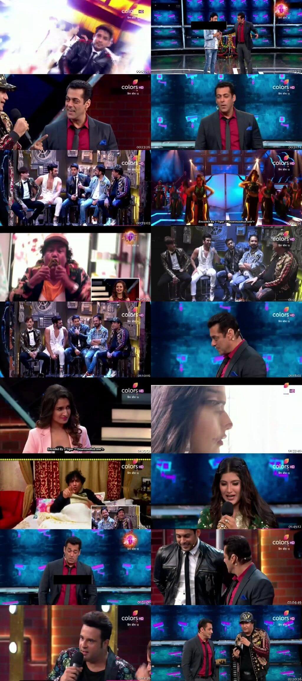Screenshots Of Hindi Show Bigg Boss 13 29th September 2019 Bigg Night 300MB 480P HD