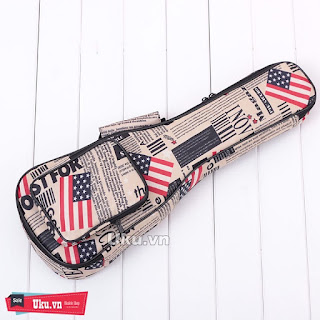 túi đàn ukulele cờ mỹ