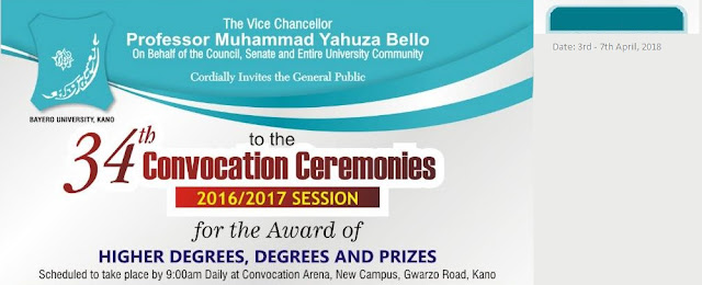 BUK 34th Convocation Ceremony Date for 2016/2017 Academic Session Announced