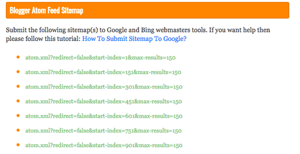 Generating feeds for webmaster tools