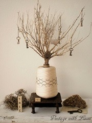 Tree of Happiness Assemblage by Vintage with Laces