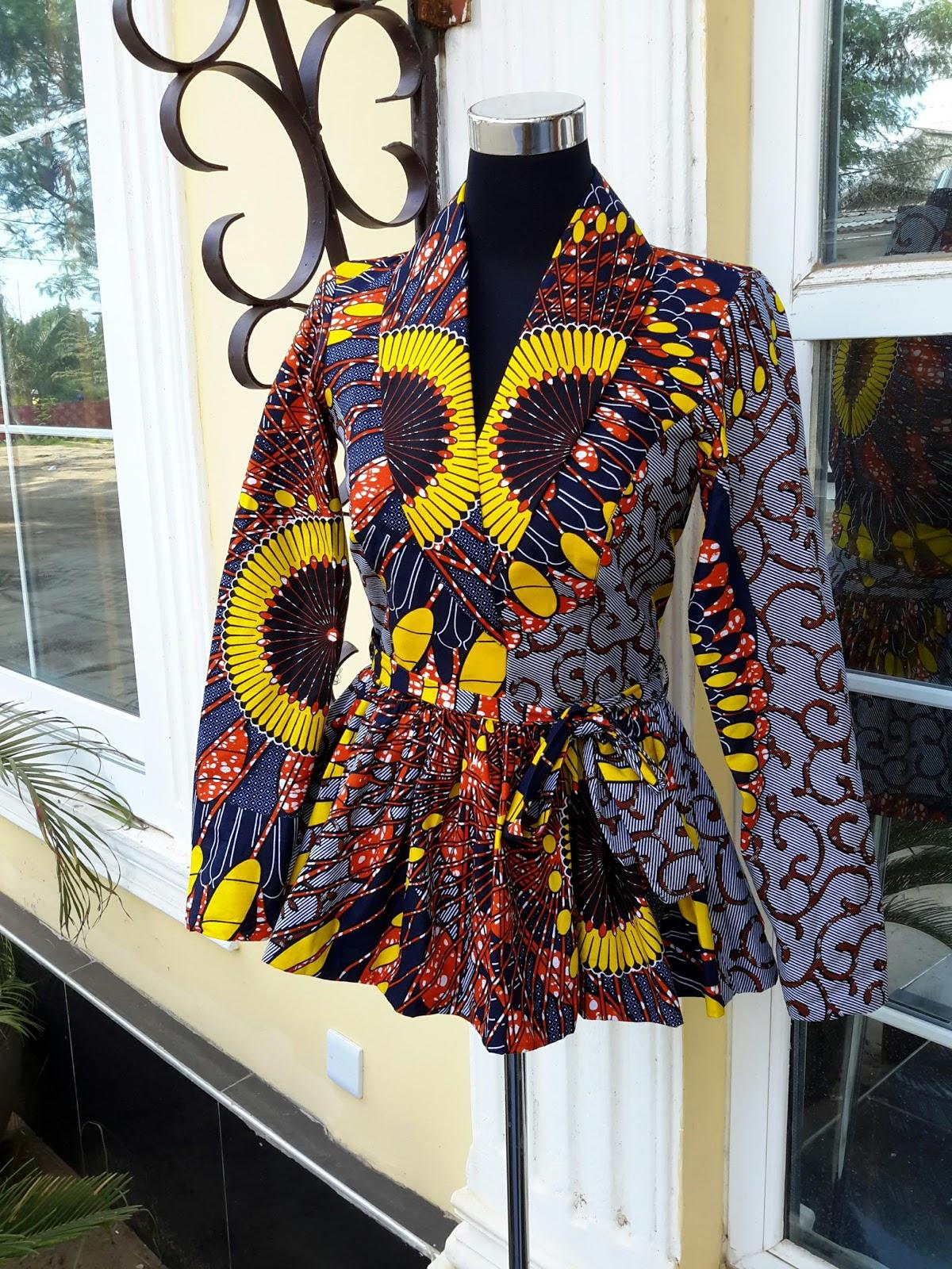 LATEST AFRICAN PRINT BLAZER DESIGNS FOR PRETTY WOMEN 3