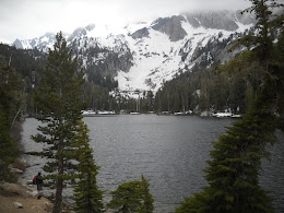 Hiking around TJ Lake in Mammoth with brother Arlo.