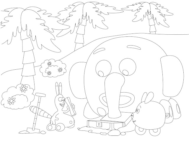 Jungle junction digging treasure coloring page for Jungle junction coloring pages
