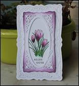 Frühlingskarte Grußkarte Ostern Frühling Spellbinders Krokus