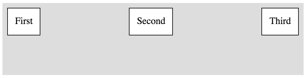 Horizontal Box with space between
