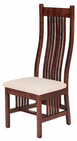 Vail Dining Chair in Modern Cherry with Fabric Seat