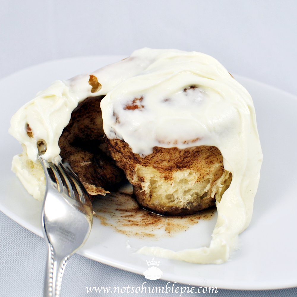 Not So Humble Pie Cinnamon Rolls With Whipped Cream
