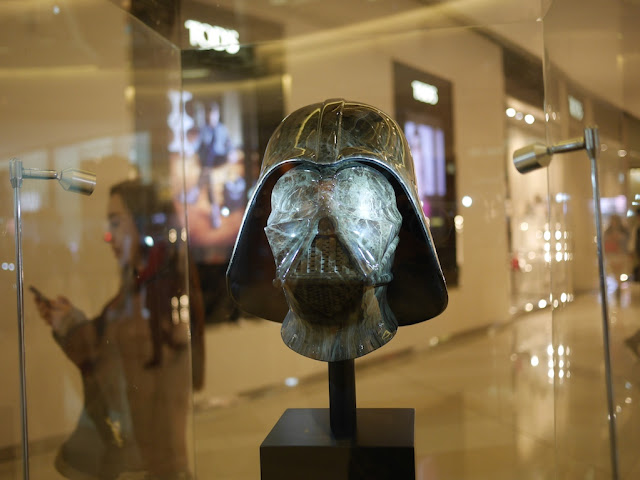 Darth Vader's head at the IAPM shopping center in Shanghai