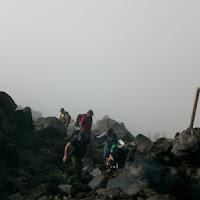 Bouldering through the mist