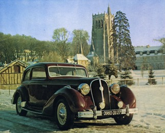 catalogue 8 Hotchkiss 20 CV Grand Sport coupé Modane 1937