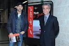 Talk show - l'Attore Beppe Fiorello e il Presidente dell'Enoteca Italiana Claudio Galletti