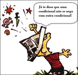 Calvin NEGAÇÃO de condicionais