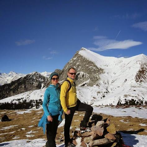 Winterwanderung im Ski- und Wandergebiet Meran2000
