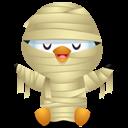 Pingüino Halloween - La momia