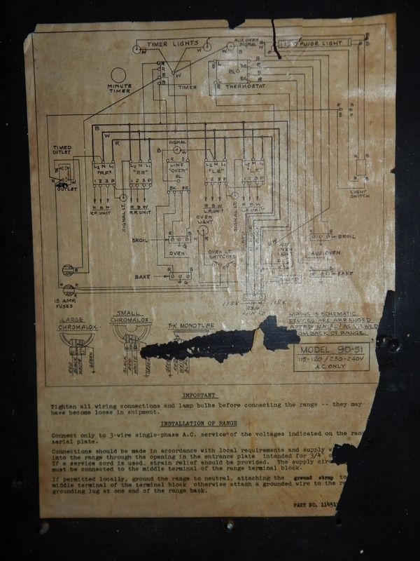 Wiring A 1950s Double Oven Electrical DIY Chatroom Home – Kelvinator Wall Oven Wiring Diagram