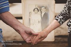Album de fotos de 62 anos de casados Neia e Viriato