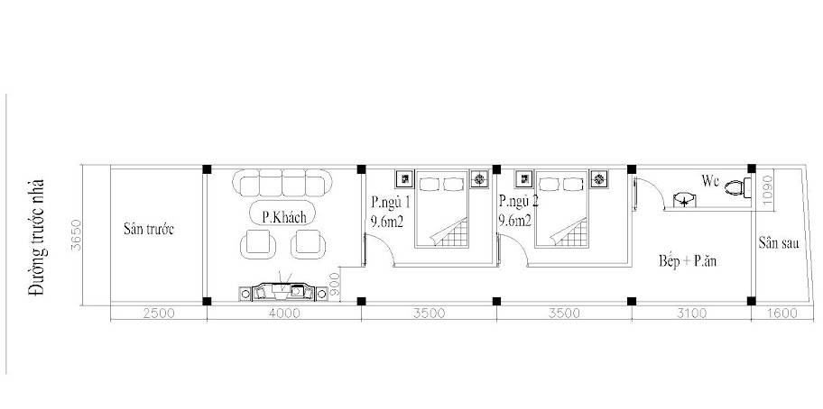thiết kế nhà cấp 4 nguyên khê
