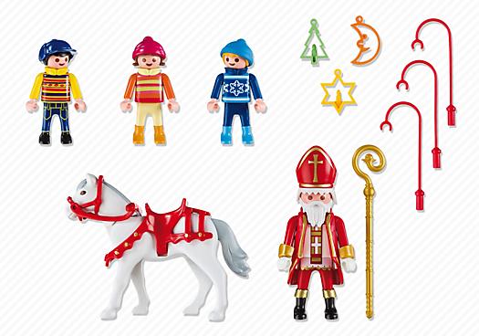 Contenido real de Playmobil® 5593 San Nicolás con Niños