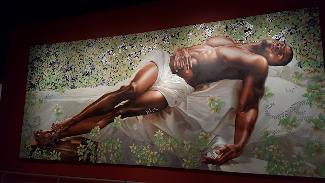 Sleep. Kehinde Wiley, 2008, oil on canvas.From Love, Change, and the Expression of Thought: 30 Americans at the Detroit Institute of Arts