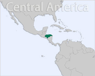 Honduras location map