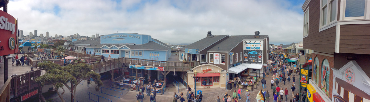 Pier 39 panoramic view
