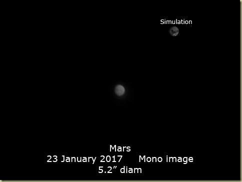 23 January 2017 Mars