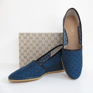 Gucci Royal Blue Wedges