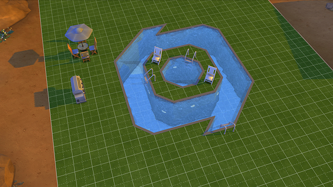 Offici le blog vijf zwembadontwerpen in de sims 4 for Pool designs sims 4